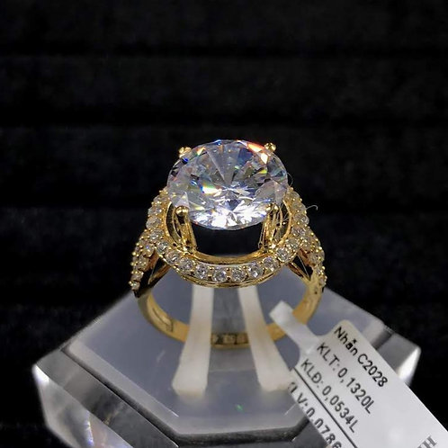 Nhẫn nữ vàng đá trắng