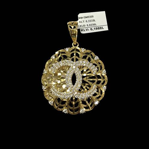 Mặt dây chanel vàng đá trắng VJC 610