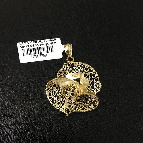 Mặt dây chuyền vàng hoa văn