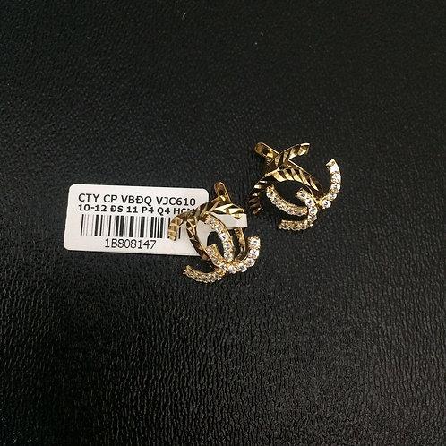 Bông tai vàng chanel VJC 610