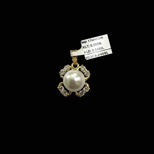 Mặt dây hoa vàng hột bẹt VJC 610