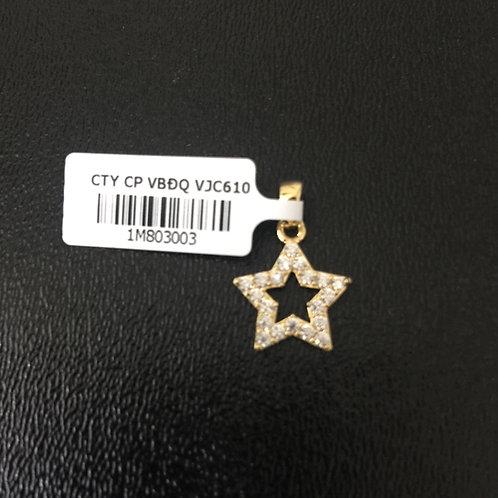 Mặt dây chuyền vàng ngôi sao VJC 610
