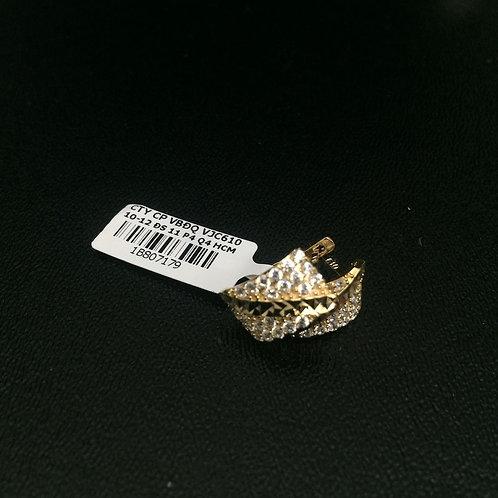Bông tai vàng nữ đá trắng VJC 610