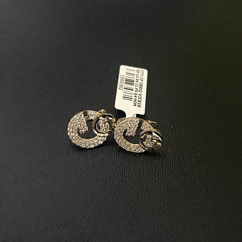 Bông tai vàng Gucci đá trắng VJC 610