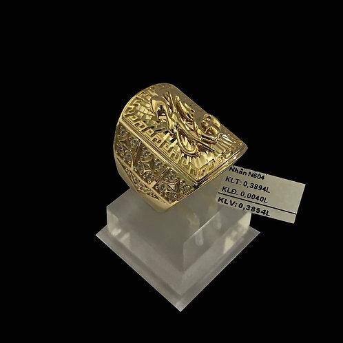 Nhẫn nam chữ Phước vàng VJC 610