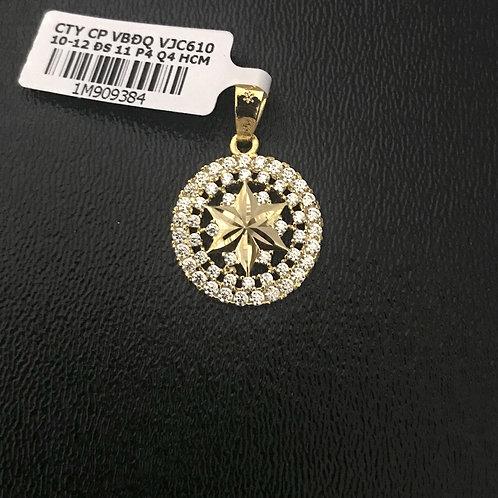 Mặt dây ngôi sao vàng đá trắng VJC 610