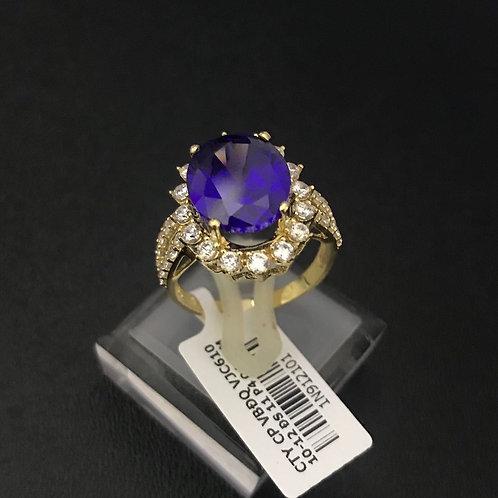 Nhẫn vàng nữ đá Xanh biển VJC 610