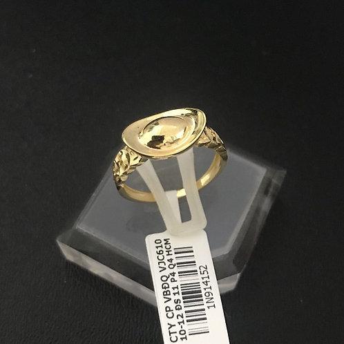 Nhẫn đồng tiền thỏi vàng VJC 610