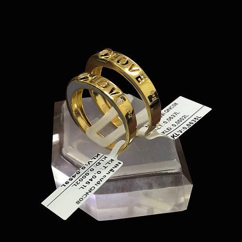 Cặp Nhẫn cưới Love vàng đá trắng VJC 610