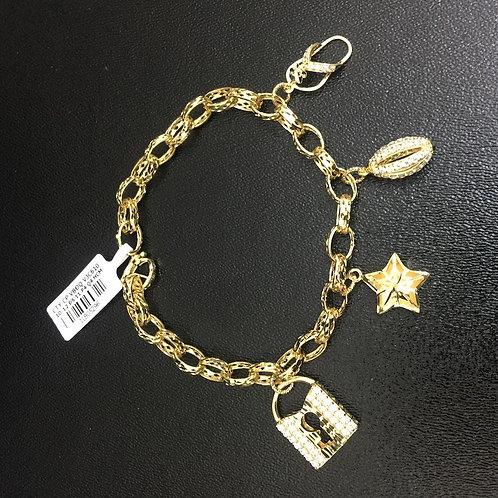 Lắc tay vàng chiếc khoá VJC 610