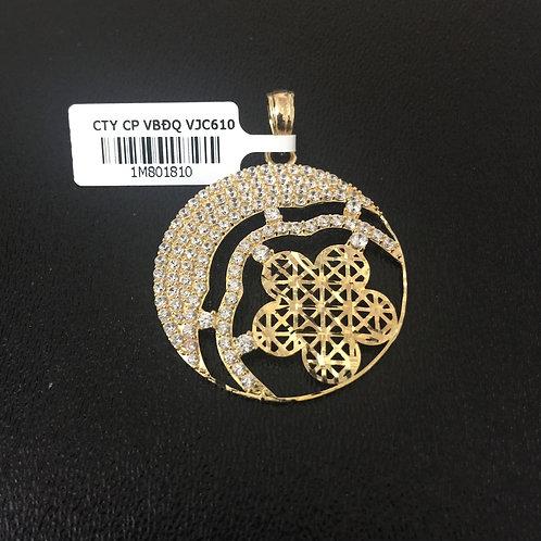 Mặt dây chuyền vàng nữ hoa văn VJC 610