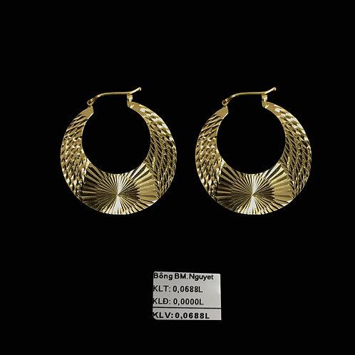 Bông tai vàng bán nguyệt VJC 610