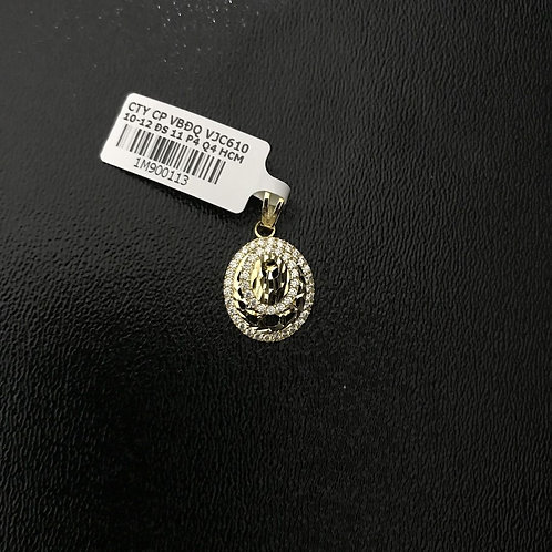 Mặt dây chuyền vàng Dior đá trắng VJC 610