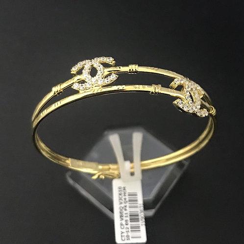 Vòng tay chanel vàng đá trắng VJC 610