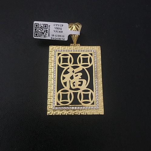 Mặt dây vàng chữ Phúc VJC 610