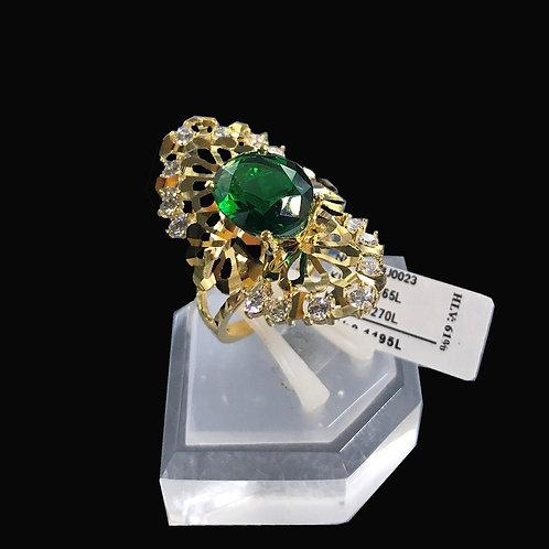 Nhẫn nữ vàng đá Xanh lá cây VJC 610