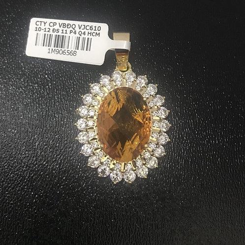Mặt dây chuyền hoa đá vàng VJC 610