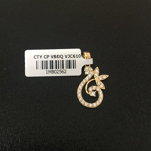 Mặt dây chuyền vàng cành lá VJC 610