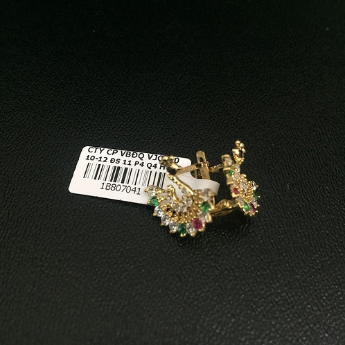 Bông tai vàng con công VJC 610