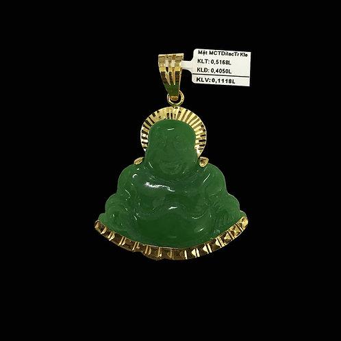 Mặt dây Phật Di Lặc vàng đá Cẩm thạch VJC 610