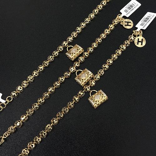 Lắc tay vàng nữ túi xách VJC 610