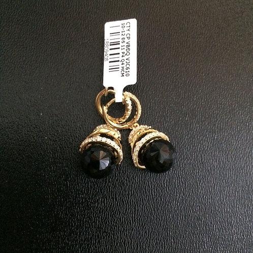 Bông tai vàng hột đá đen VJC 610
