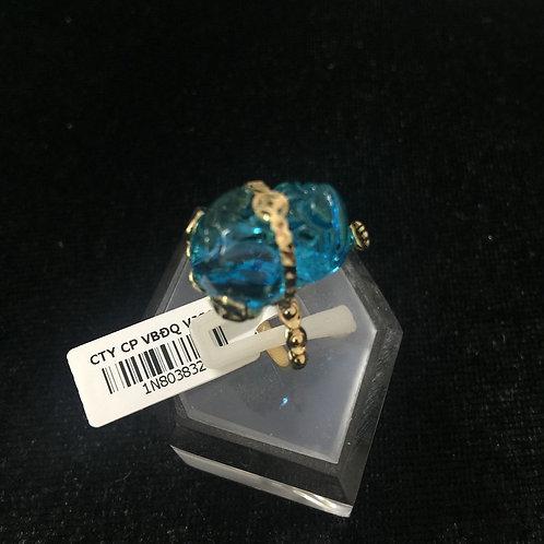 Nhẫn vàng nữ tỳ hưu đá xanh