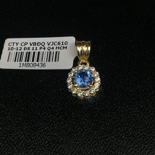 Mặt dây chuyền vàng đá Xanh nước biển VJC 610