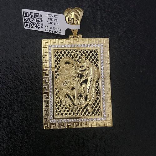 Mặt dây vàng hổ rồng VJC 610