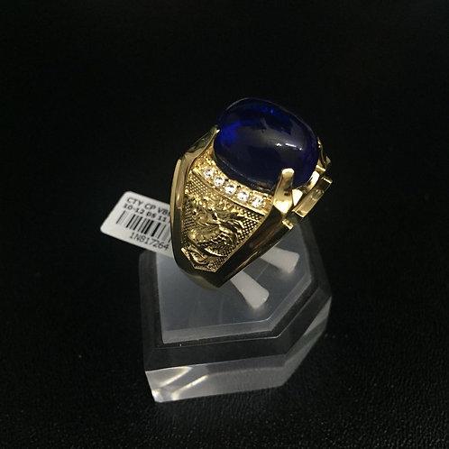 Nhẫn vàng nam đá xanh nước biển VJC 610