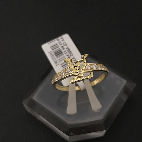 Nhẫn vàng nữ LV đá trắng VJC 610
