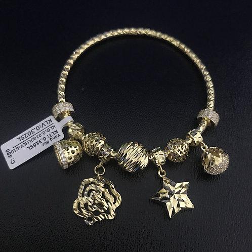 Vòng tay charm vàng hoa sao VJC 610