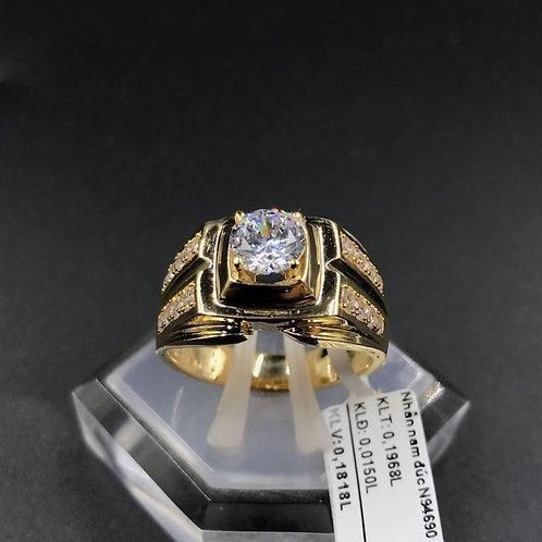Nhẫn nam vàng đá trắng