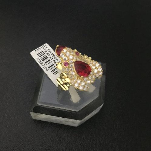 Nhẫn nữ vàng cóc thiềm thừ đá đỏ VJC 610