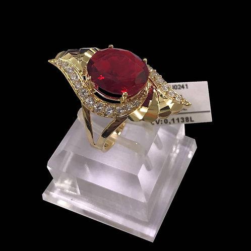 Nhẫn nữ vàng đá đỏ VJC 610