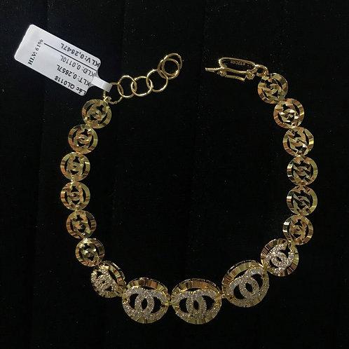 Lắc tay chanel vàng đá trắng VJC 610