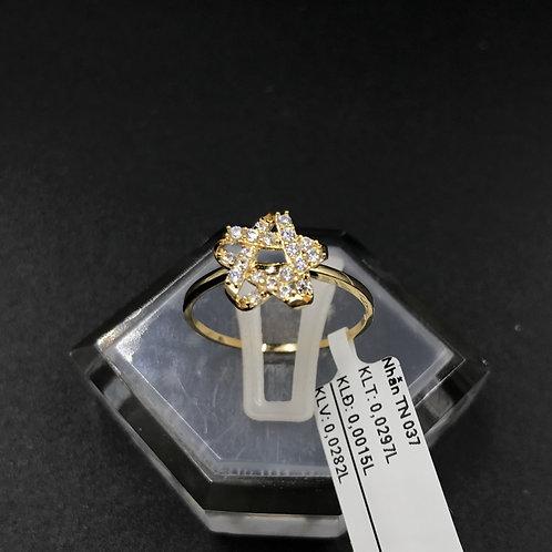 Nhẫn nữ ngôi sao vàng đá trắng
