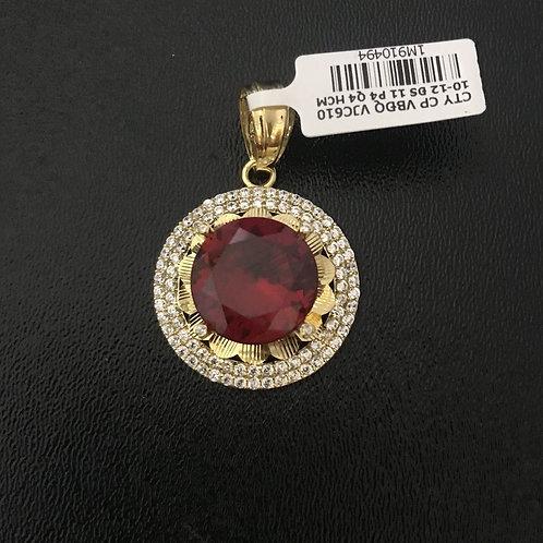 Mặt dây vàng đá đỏ VJC 610