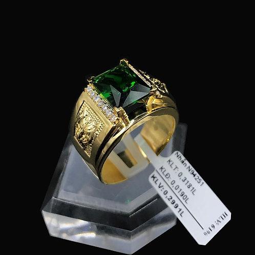 Nhẫn nam Cọp vàng đá xanh lá cây VJC 610