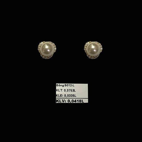 Bông tai vàng hột bẹt VJC 610