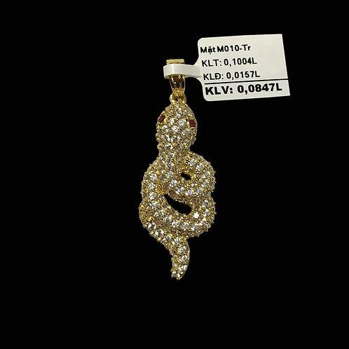 Mặt dây Rắn vàng đá trắng VJC 610