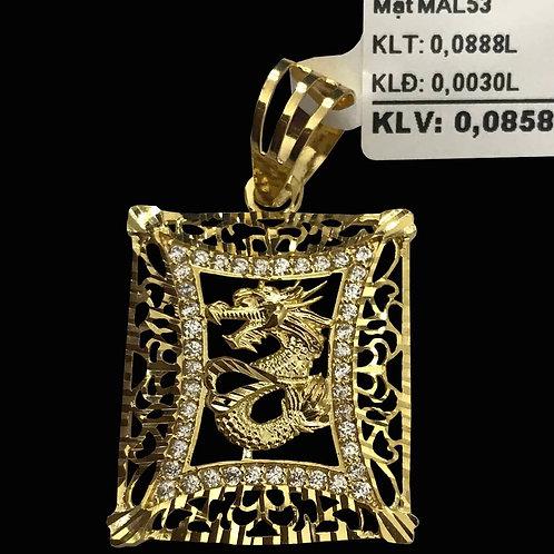 Mặt dây nam Rồng vàng VJC 610