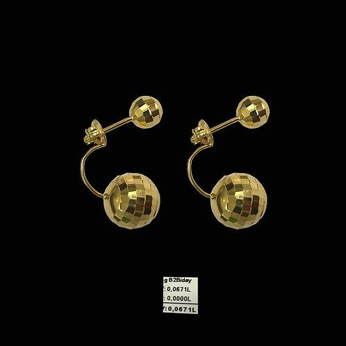 Bông tai hai bi vàng VJC 610