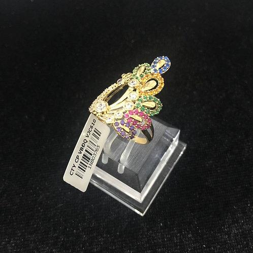 Nhẫn vàng nữ đá nhiều màu