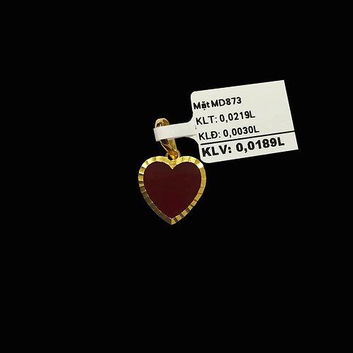 Mặt dây tim vàng đá đỏ VJC 610