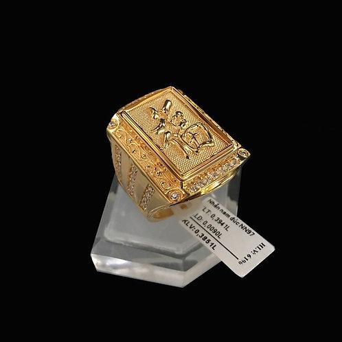 Nhẫn nam chữ Phúc vàng đá trắng VJC 610