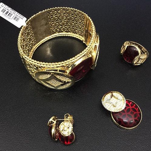 Bộ Trang sức Vàng đồng tiền đá đỏ VJC 610