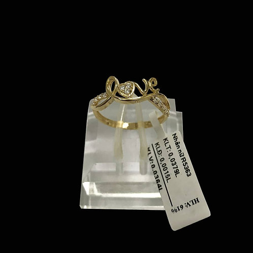 Nhẫn Love vàng đá trắng VJC 610