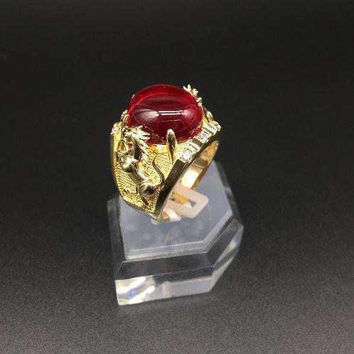Nhẫn vàng nam ngựa đá đỏ VJC 610