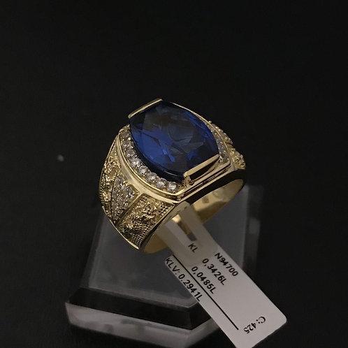 Nhẫn nam Rồng vàng đá xanh biển VJC 610